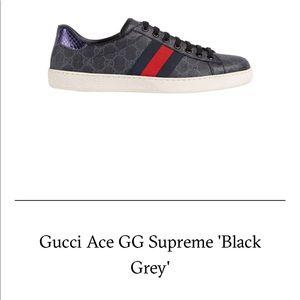 Gucci supreme gg shoes.